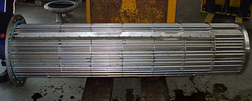 Shell and Tube Heat Exchanger after cleaning