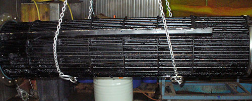 Shell and Tube Heat Exchanger before Cleaning